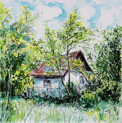 Painting - Farm by Kovacs Anna Brigitta