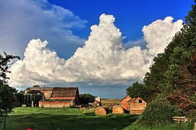 Photograph - Farm Yard by David Matthews