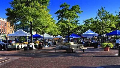 Fells Point Baltimore Photograph - Farmer's Market by Jim Archer