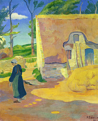 Farming Painting - Farmhouse At Le Pouldu by Paul Serusier