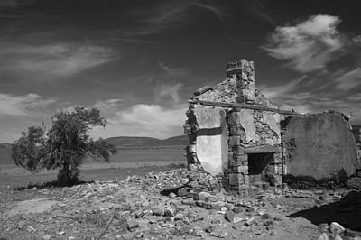 Farmhouse Cottage Ruin Flinders Ranges South Australia Art Print by Ralph A  Ledergerber-Photography