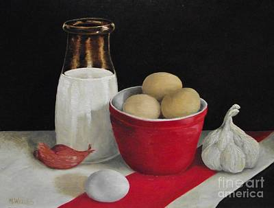 Painting - Farmhouse Eggs by Michelle Welles