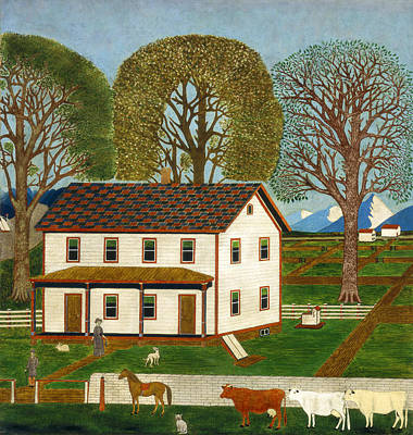 Painting - Farmhouse In Mahantango Valley by American 19th Century