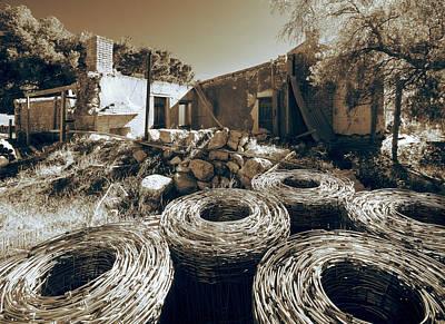 Photograph - Farmhouse Ruin by Wayne Sherriff