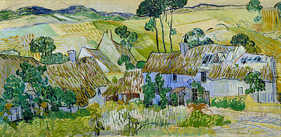 Pasture Painting - Farms Near Auvers by Vincent van Gogh