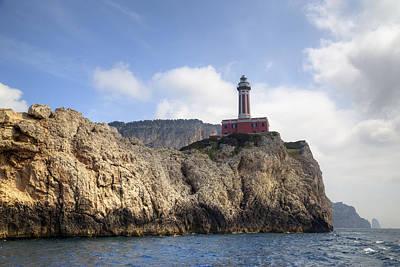 Faro Punta Carena - Capri Art Print