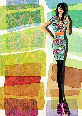 Vivid Digital Art - Fashion Illustration by Ramneek Narang