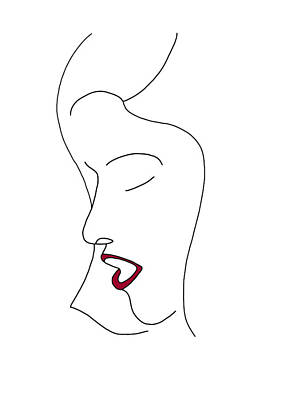 Faces Drawing - Fashion Sketch by Frank Tschakert