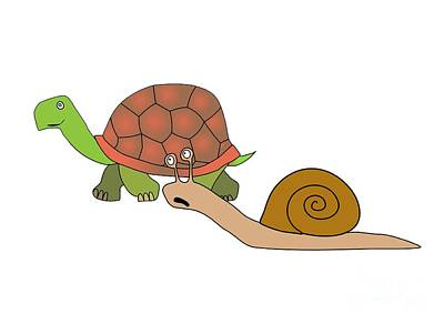 Reptiles Drawings - Fast and furious by Michal Boubin