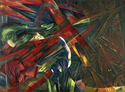 Fate Of The Animals Painting - Fate Of The Animals by Franz Marc