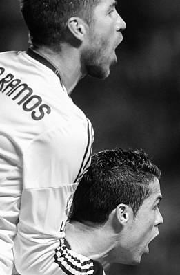 Athletes Royalty-Free and Rights-Managed Images - Cristiano Ronaldo 20 by Rafa Rivas