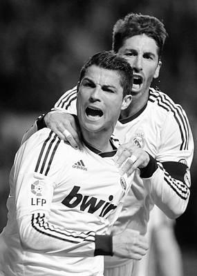 Athletes Royalty-Free and Rights-Managed Images - Cristiano Ronaldo 12 by Rafa Rivas