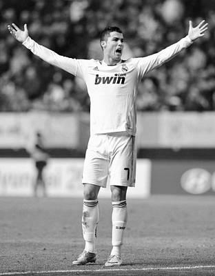 Athletes Royalty-Free and Rights-Managed Images - Cristiano Ronaldo 24 by Rafa Rivas