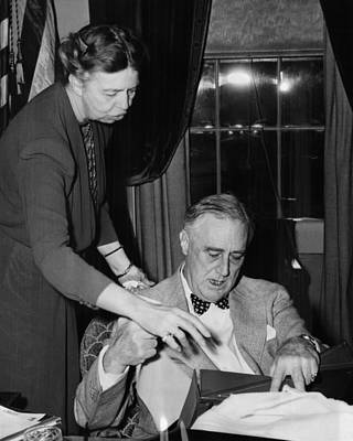 Fdr Presidency. First Lady Eleanor Art Print