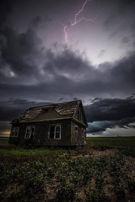 Lightning Photograph - Fear by Aaron J Groen