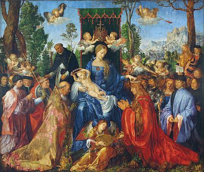 Painting - Feast Of Rose Garlands by Albrecht Durer