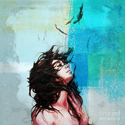 Painting - Feathers From Hair  by Gull G