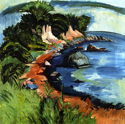 Sea Painting - Fehmarn Coast by Ernst Ludwig Kirchner