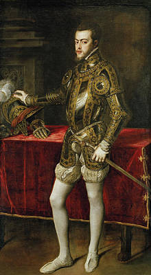 Monarch Painting - Felipe II by Titian