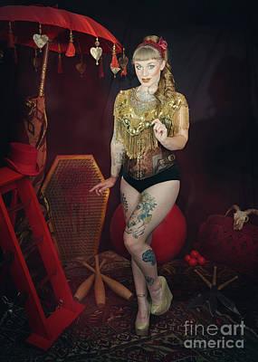 Of Artist Photograph - Female Circus Performer by Amanda Elwell