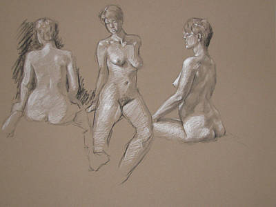 Painting - Female Nude by Christopher Reid