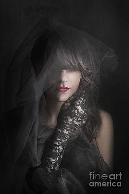 Lace Photograph - Female Portrait by Jelena Jovanovic