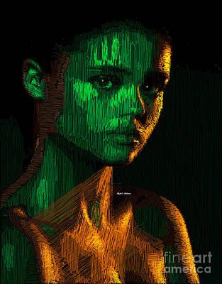 Digital Art - Female Portrait  by Rafael Salazar