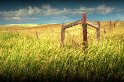 Photograph - Fence Corner On The South Dakota Prairie by Randall Nyhof