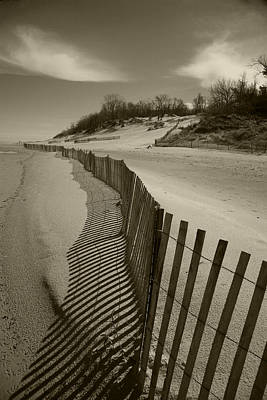 Indiana Dunes Photograph - Fence Line by Timothy Johnson