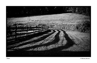 Photograph - Fence by R Thomas Berner