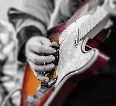Photograph - Fender Telecaster On Stage by Andrea Mazzocchetti