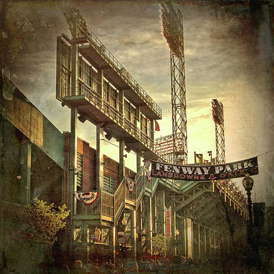 Boston Red Sox Photograph - Fenway Park - Lansdowne Street - Boston by Joann Vitali