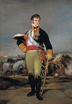Monarch Painting - Fernando Vii At Camp by Francisco Goya