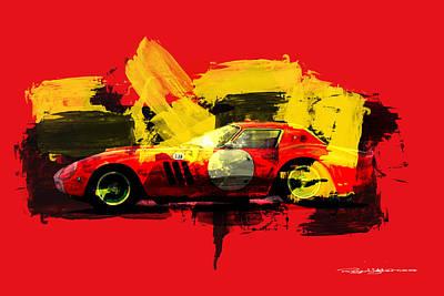 Digital Art - Ferrari 250 Gto by Roger Lighterness