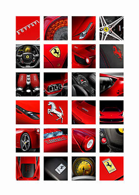 Car Photograph - The Ferrari 458 Italia by Mark Rogan
