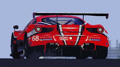 Painting - Ferrari 488 Gt  by Andrea Mazzocchetti