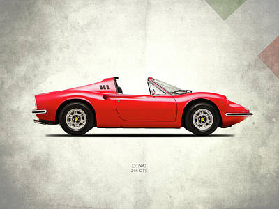 Cars Photograph - Ferrari Dino 246 Gts by Mark Rogan