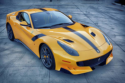 Photograph - #ferrari #f12tdf #print by ItzKirb Photography