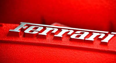 Photograph - Ferrari Intake by Dean Ferreira