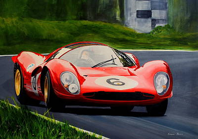 Painting - Ferrari P4 by Steve Jones