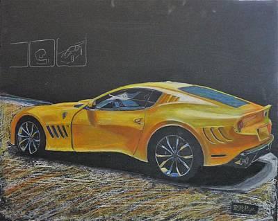 Pastel - Ferrari Sp 275 Rw Competizione by Richard Le Page