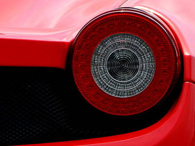 Photograph - Ferrari Tail Light by Dean Ferreira