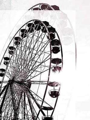 Sun Photograph - Ferris Wheel Fair  by Kathryn Cloniger-Kirk