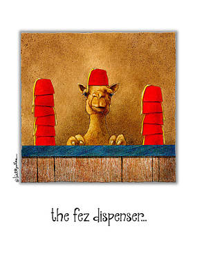 Painting - Fez Dispenser... by Will Bullas