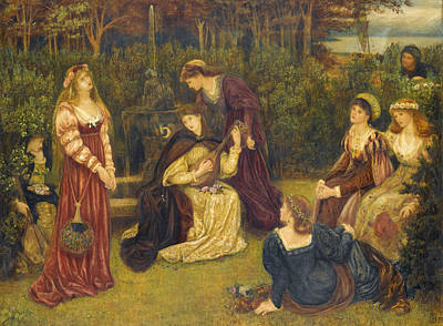 Drawing - Fiammetta Singing by Marie Spartali Stillman