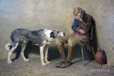 Briton Riviere Painting - Fidelity by MotionAge Designs