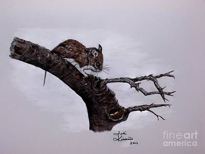 Art Print featuring the painting Field Mouse by Judy Kirouac