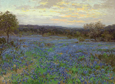 Painting - Field Of Bluebonnets At Sunset by Julian Onderdonk