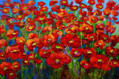 Painting - Field Of Poppies by Mary Jo Zorad
