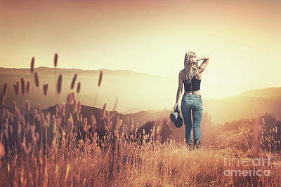 Royalty-Free and Rights-Managed Images - Fields Of Gold by Evelina Kremsdorf